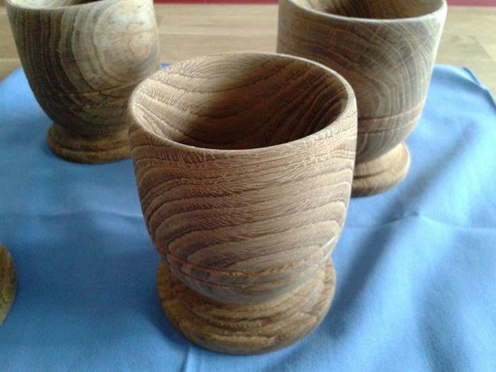 Bicchieri in legno torniti mercatino medievale for Bicchieri in legno