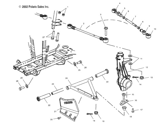 strano camber anteriore polaris sportsman 500 2008